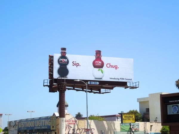 Pom Coconut Sip Chug billboard