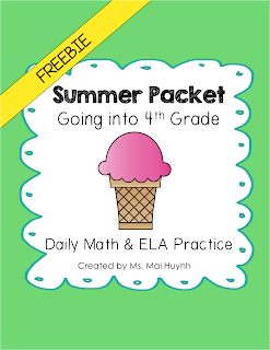 https://www.teacherspayteachers.com/Product/Freebie-Summer-Packet-Going-into-4th-Grade-1833510