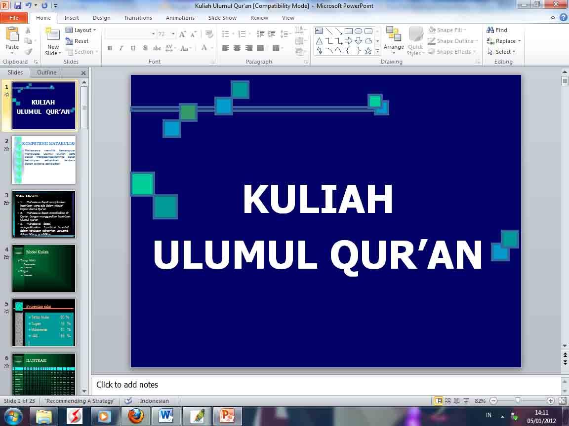 Kuliah Ulumul Qur An Mfc