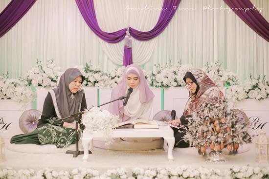 Foto Cantik Pernikahan Diana Amir oleh AmalinaTuna