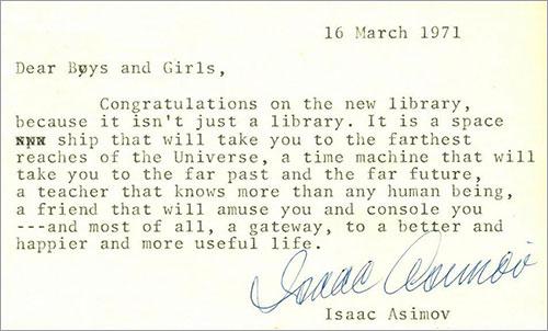 Una biblioteca infantil en palabras de Isaac Asimov