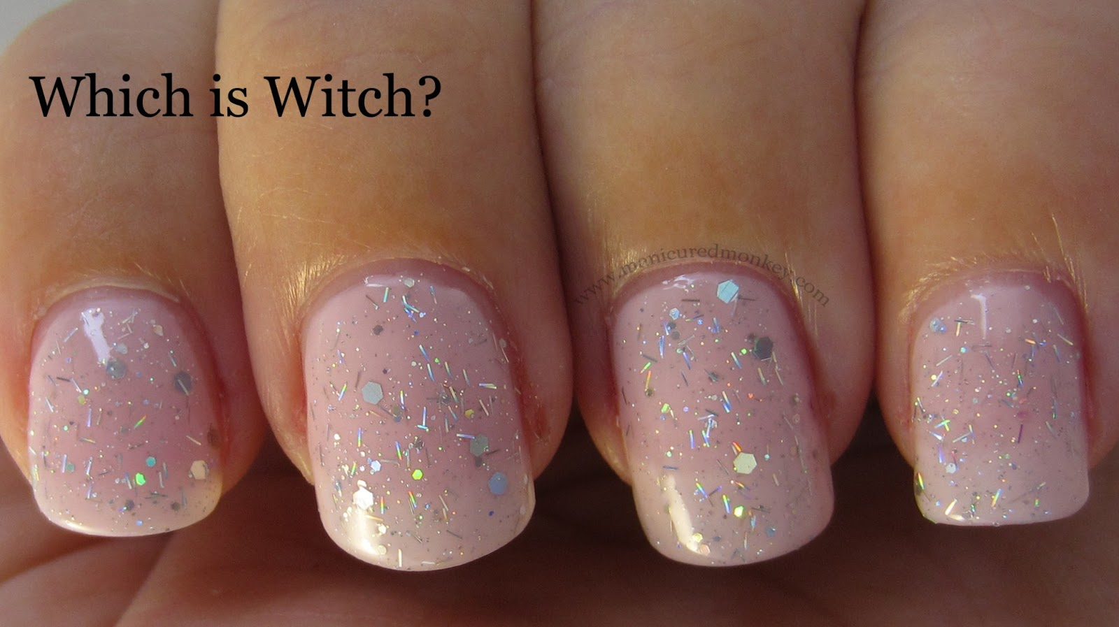 Nice White French Nails With Glitter Pattern - Nail Art Ideas ...