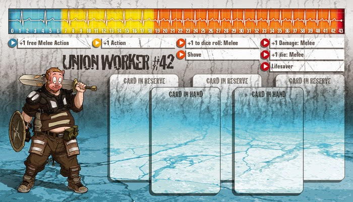 Alyana Heska, Union Worker, #42, Kickstarter, Zombicide, card, Wrath of kings