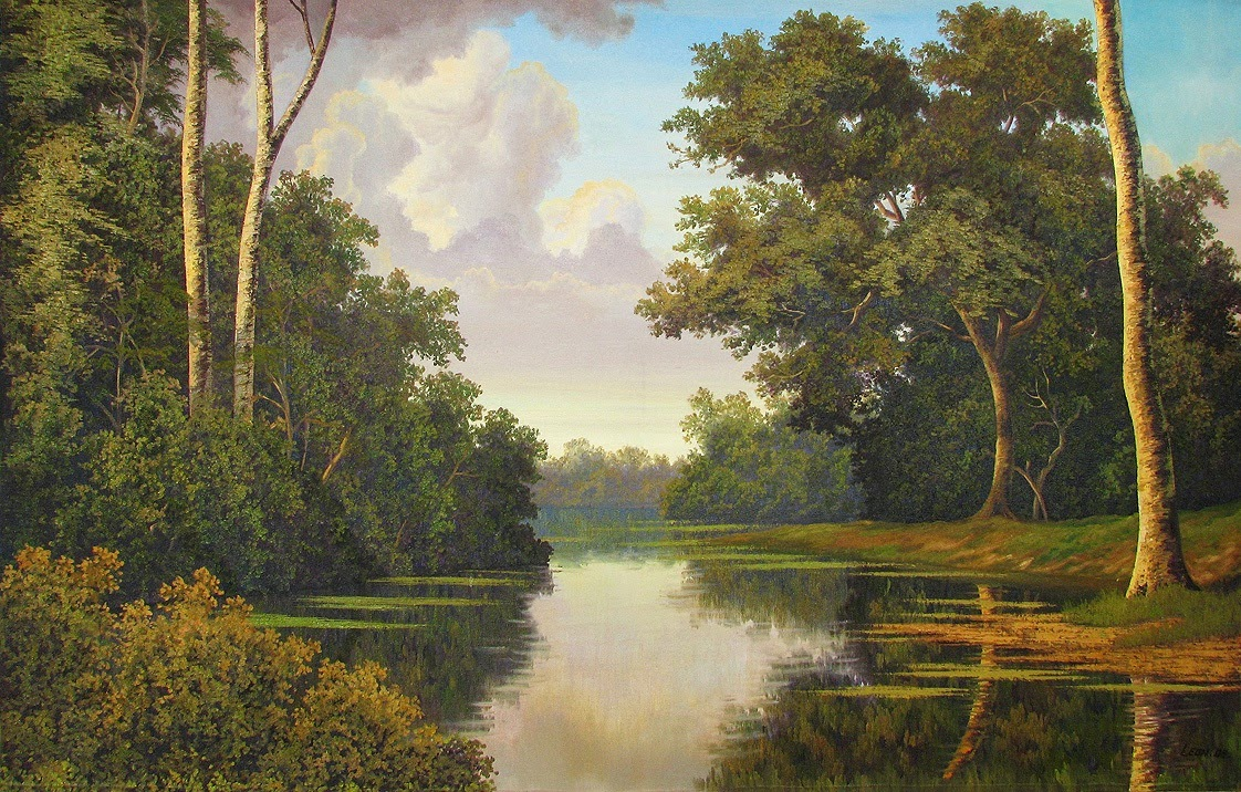 Forest Landscape Painting Sold Hanoi Martinez Leon Cuban