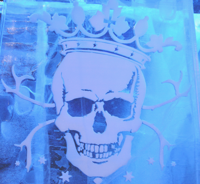 Ice Bar London Wall Carving
