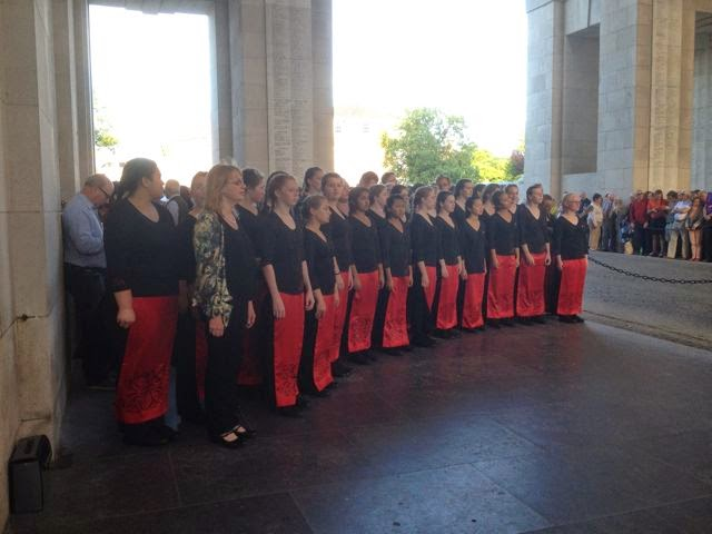Choir singers visit ww1 sites messines 1917 lower hutt new zealand were in messines for five days giving a concert in the town and singing at the last post service at the menin gate on monday sciox Images