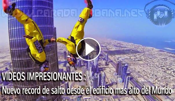 VIDEO ASOMBROSO - Récord mundial en salto BASE, desde el edificio más alto del mundo