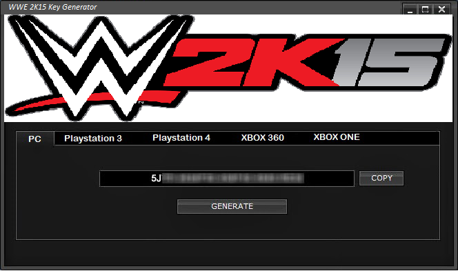 wwe 2k15 licence key for pc