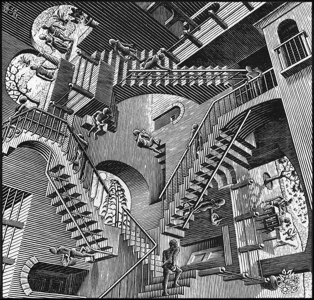 Arena de Prometheus Escher-relativity-woodcut-medium