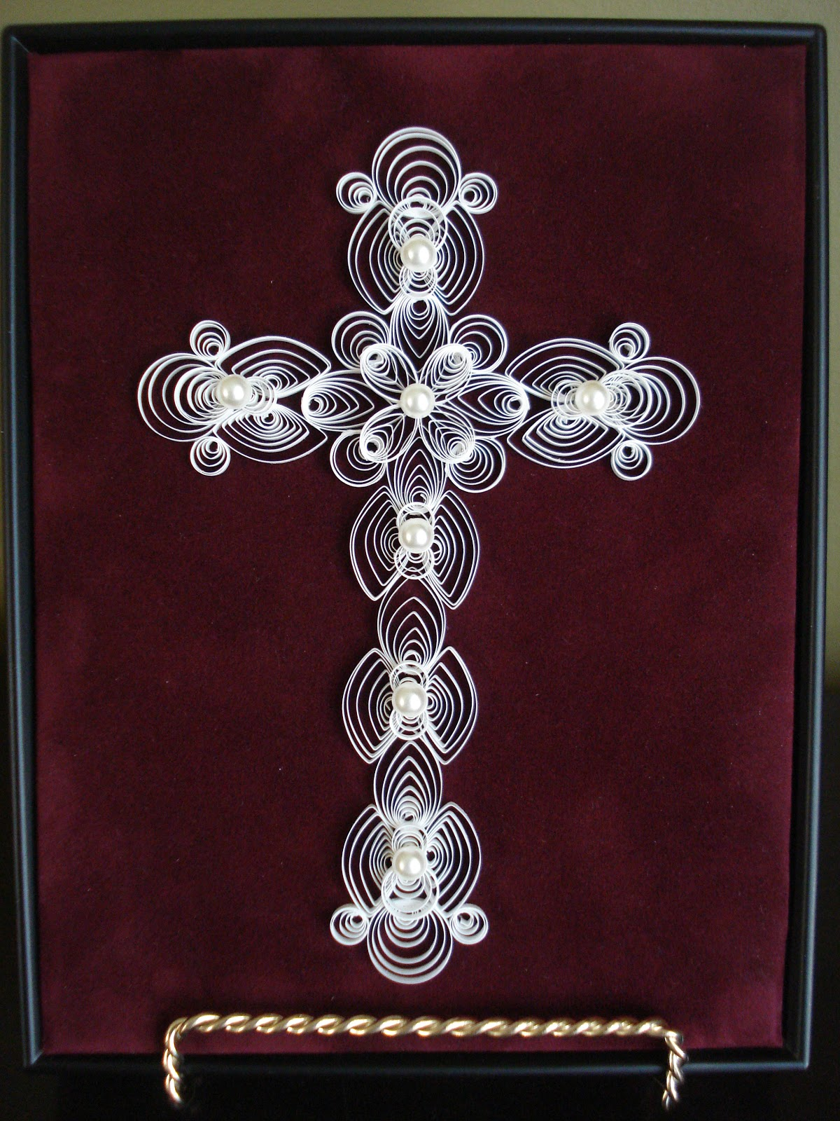 Anita cake quilled cross for Quilling designs