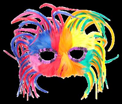 Máscara Carnaval - Multi cor leve