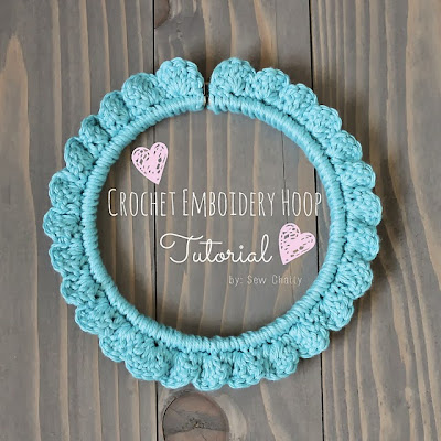 crochet embroidery hoop tutorial