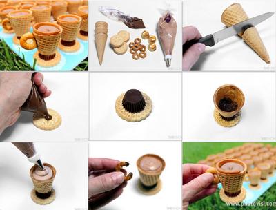 tutorial tazas con cucuruchos