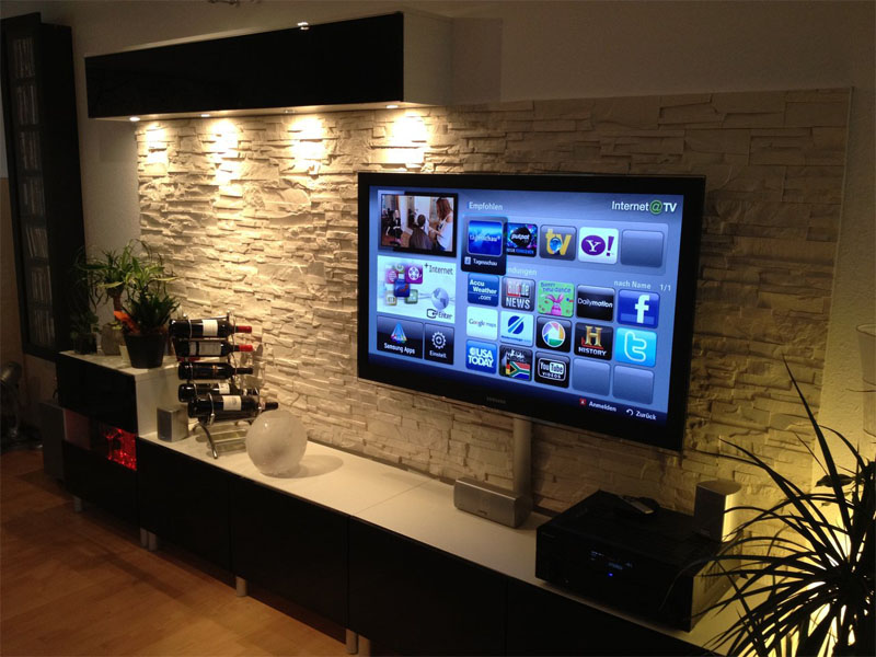 Case Con Interni In Pietra. Murali Interni Kitchen Dining Porta Tv ...
