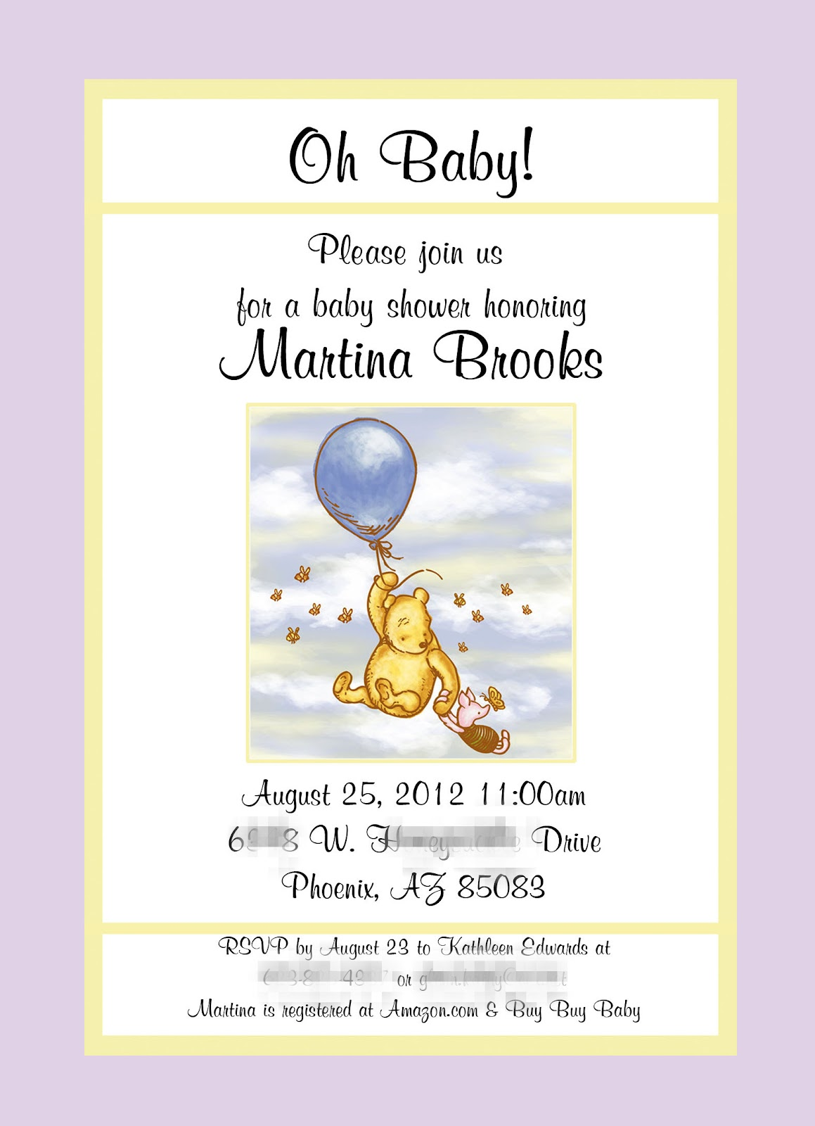 treats classic pooh baby shower