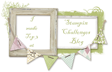 In de top 3 !! bij Stampin Up challenge !