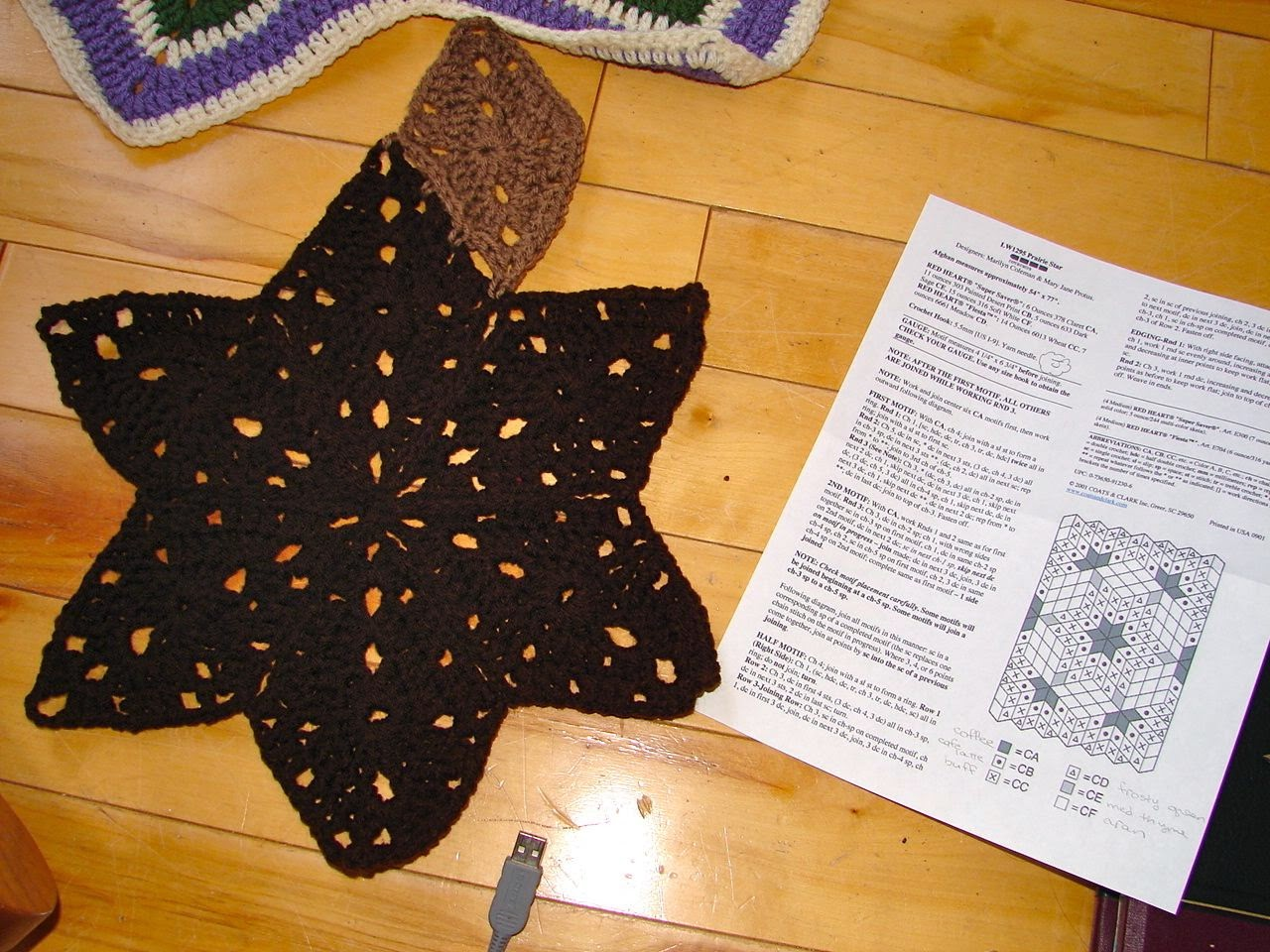 Amys passions red heart prairie star progress crochet and i jumped in full steam ahead bankloansurffo Image collections