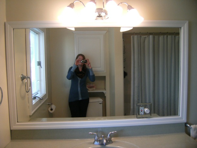 Projects Around The House Diy Framed Bathroom Mirror
