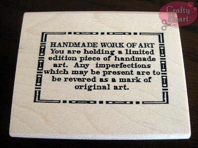 Stampers Anonymous - Handmade Work of Art rubber stamp