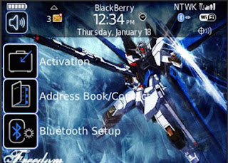 Gundam Gundam BlackBerry Curve 8900 Themes
