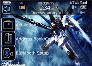Gundam Gundam BlackBerry Curve 8900 Themes