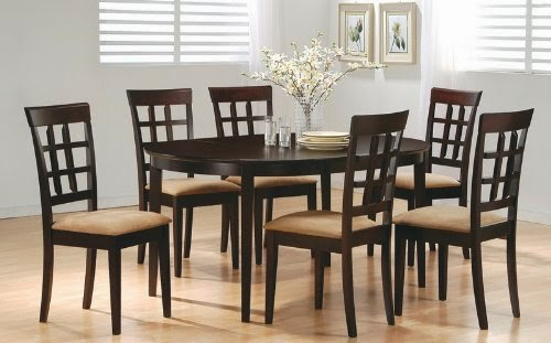 7pc casual dining table chairs