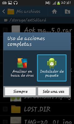 ¿Cómo instalar aplicaciones que no se hayan obtenido en Google Play?