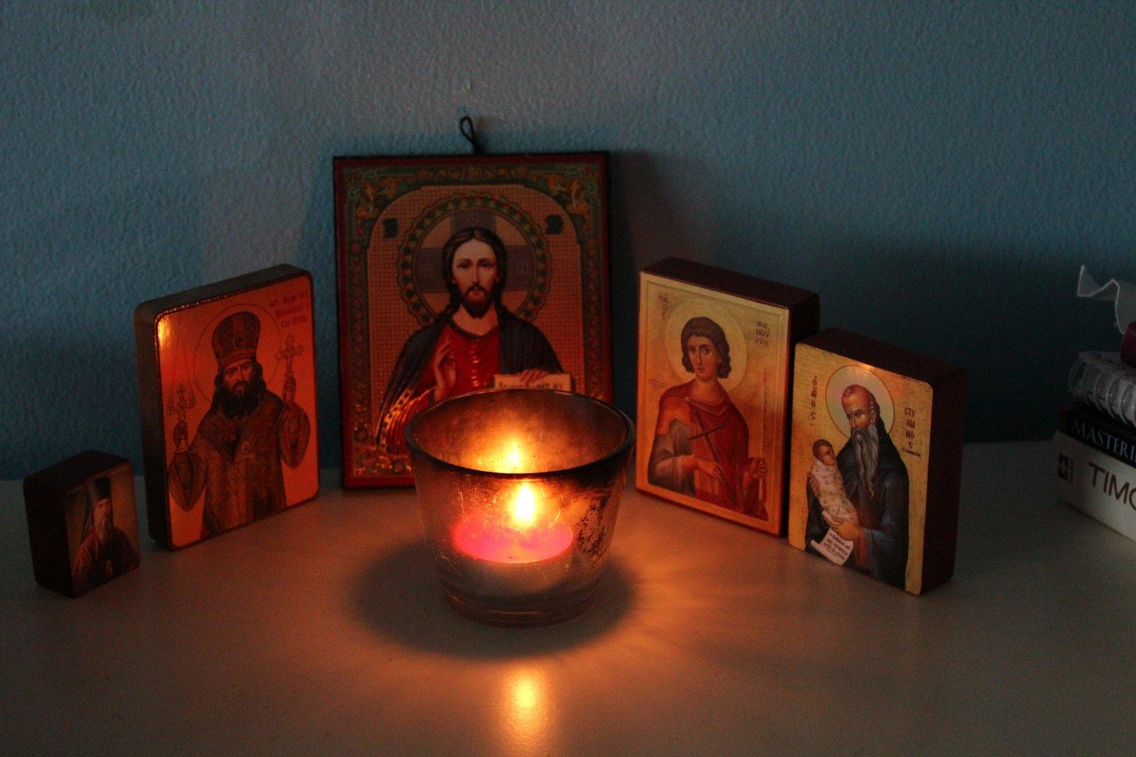Angolo per la preghiera dans immagini sacre