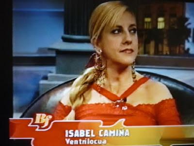 Isabel Camiña en el programa de Buenafuente