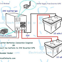 How to connect ups inverter to battery and to ac supply how to connect two batteries to inverter 24 volts ups 2 batteries in my last tutorial post i published a diagram about how to connect cheapraybanclubmaster Choice Image