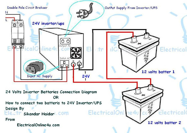 shunt trip breaker wiring diagram home design interior 2015 how to connect two batteries to inverter  amp  24 volts ups 2  how to connect two batteries to inverter  amp  24 volts ups 2