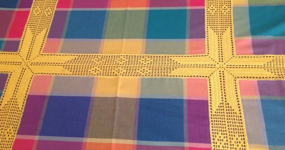 Cien botones hacer una manteler a con servilletas - Como hacer una manteleria ...