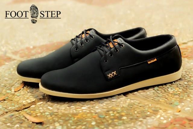 Sepatu Kulit Sepatu Kulit Footstep Polar Black
