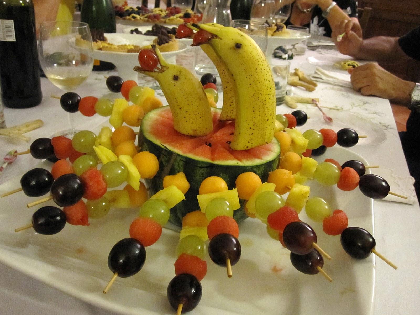 Ricette senza tempo spiedini di frutta - Contorno di immagini di frutta ...