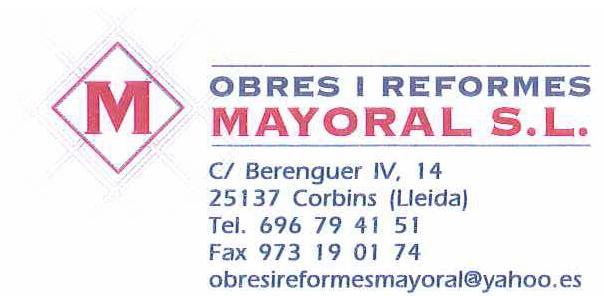 Obres i Reformes Mayoral S.L.