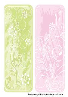 Verde y rosa para flores  Etiquetas de flores para imprimir
