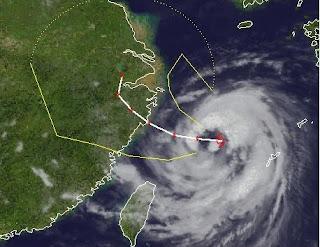 Taifun Haikui auf dem Weg nach Schanghai,Haikui, Taiwan, China, Schanghai, aktuell, Taifun Typhoon, Taifunsaison 2012, August, 2012, Satellitenbild Satellitenbilder, Vorhersage Forecast Prognose,