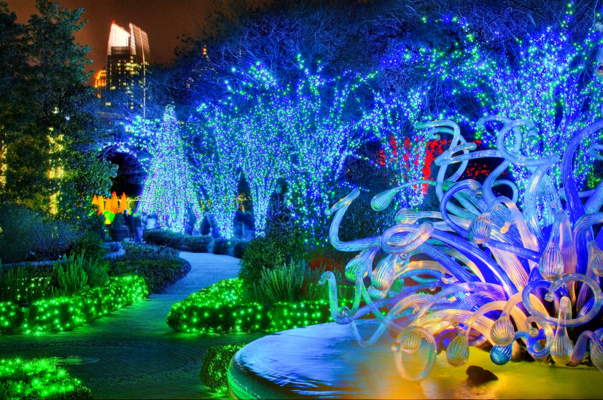 Atlanta botanical garden shines green this winter with new sparkling attractions the