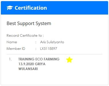 Sertifikat Eco Farming