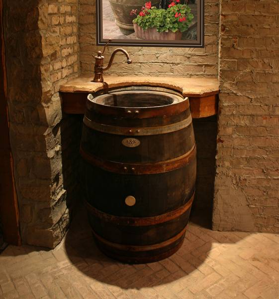 To Da Loos Wine Barrel Sink Vanities Turning Into Water