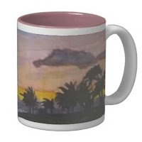 Sunset on Ko'Olina Lagoon Watercolor Mug