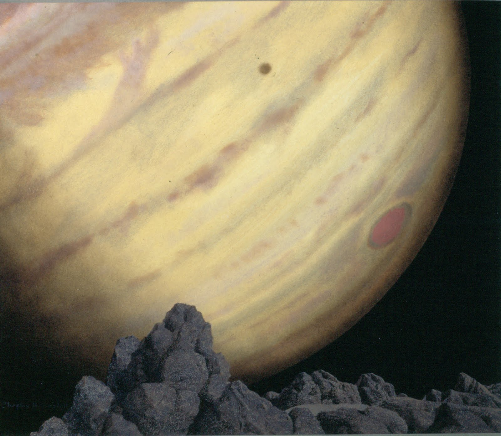 Jupiter as seen from Amalthea