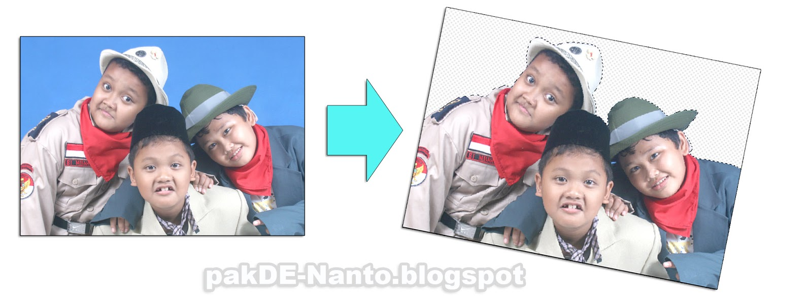 Cara menghapus background foto menjadi transparan di photoshop