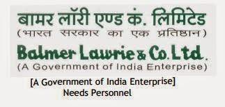 Jobs in Balmer Lawrie and Co.Ltd.,Nov-2014
