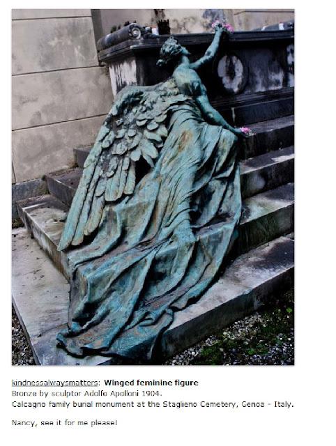 winged feminine figure, genoa