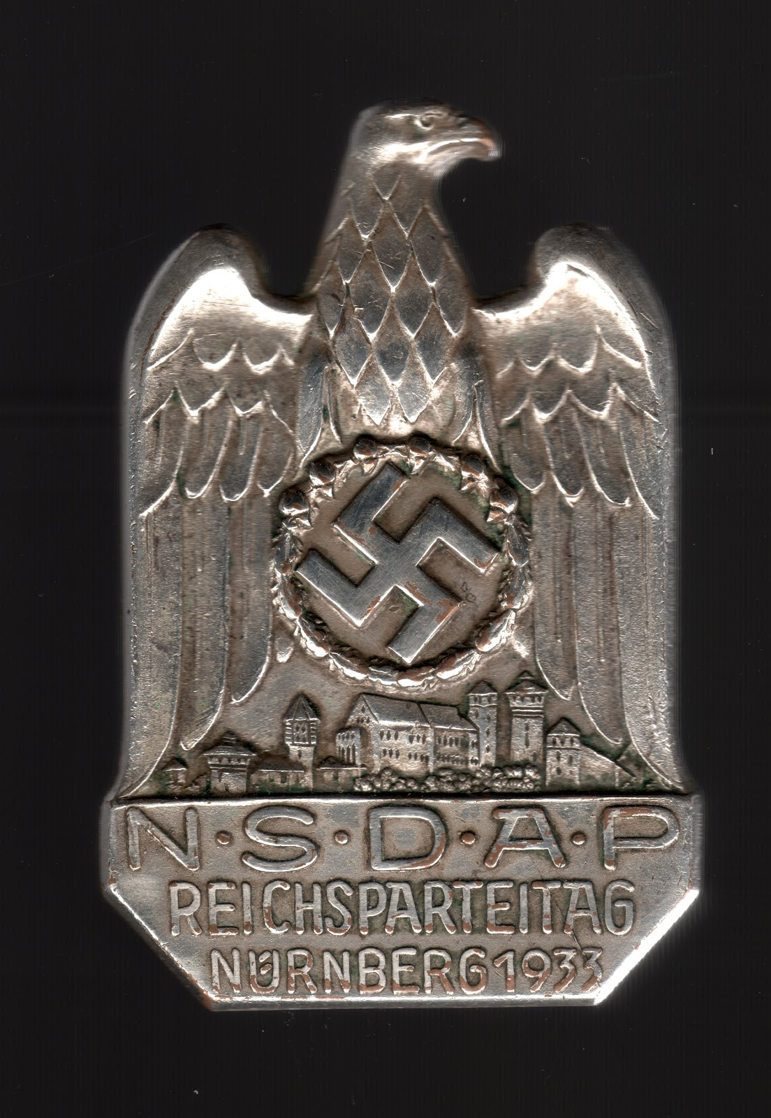 Ailsby Collection N 252 Rnberg Party Day Badge Of 1933