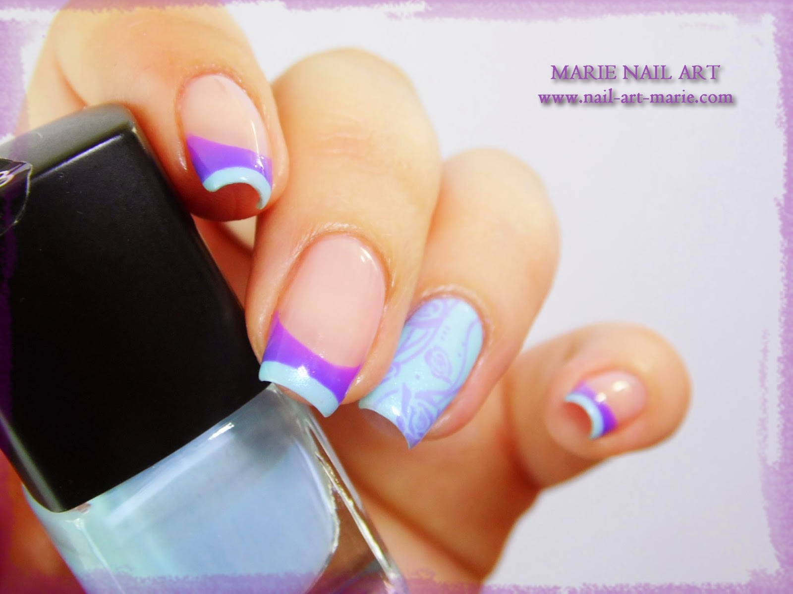 Nail Art Double French Thermique10