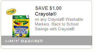 $1 off crayola washable markers printable coupon