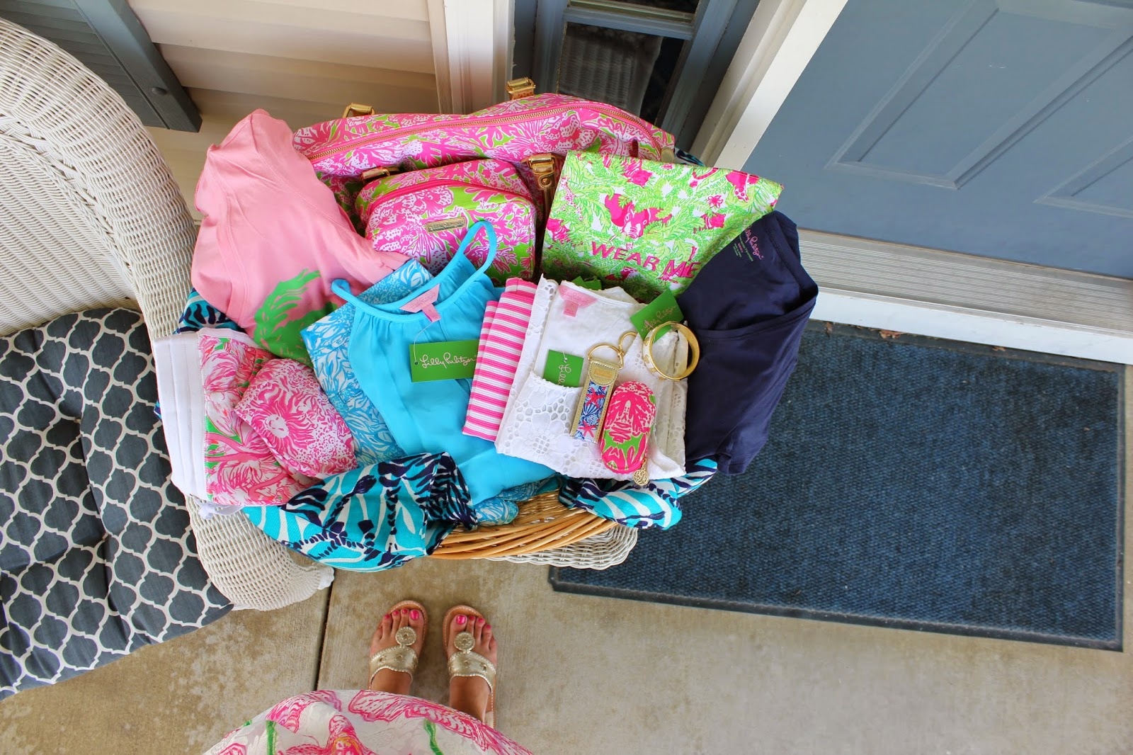 Lilly Pulitzer Easter Basket and Jack Rodgers Anchors and Pearls