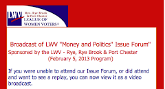 MONEY AND POLITICS ISSUE FORUM